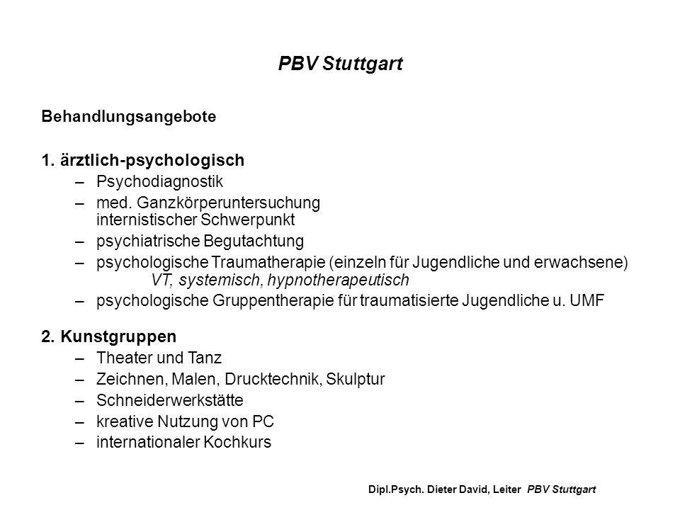 PBV Stuttgart 1. ärztlich-psychologisch 2. Kunstgruppen