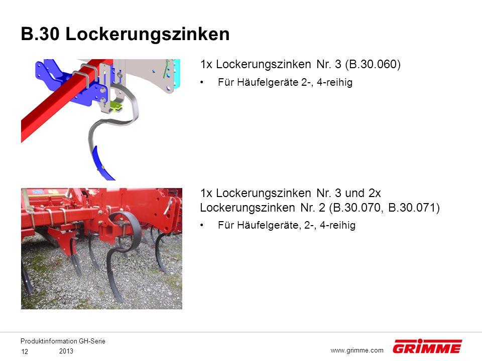 B.30 Lockerungszinken 1x Lockerungszinken Nr. 3 (B.30.060)