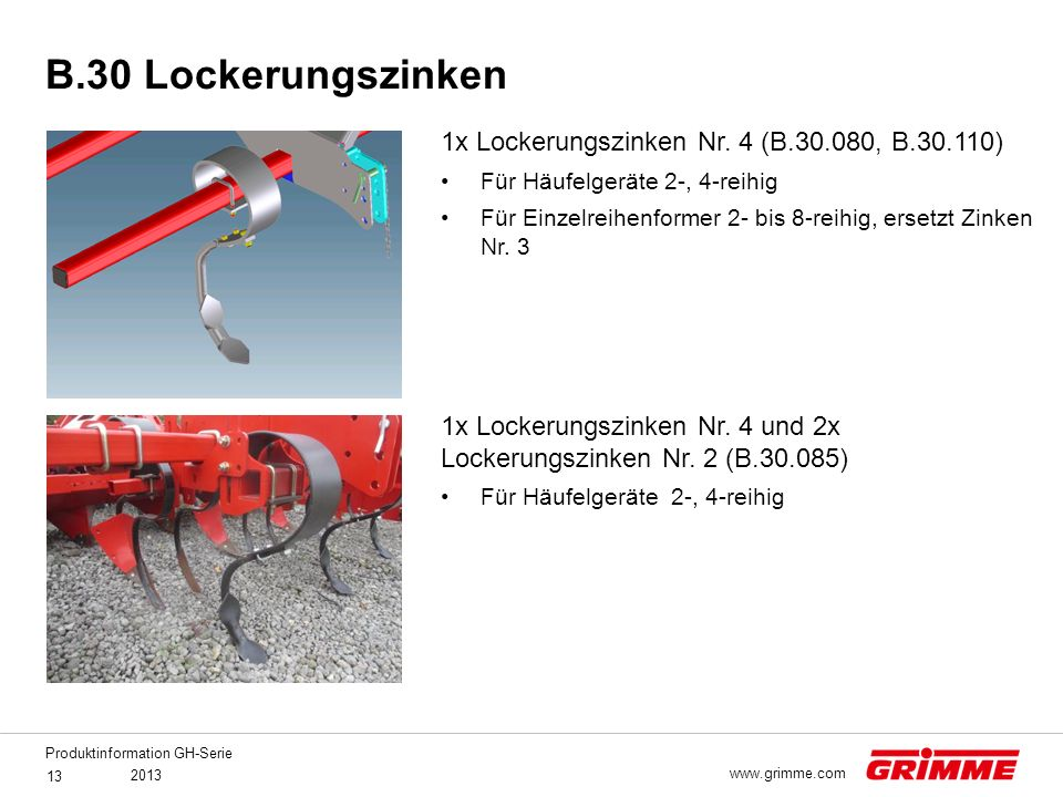 B.30 Lockerungszinken 1x Lockerungszinken Nr. 4 (B.30.080, B.30.110)