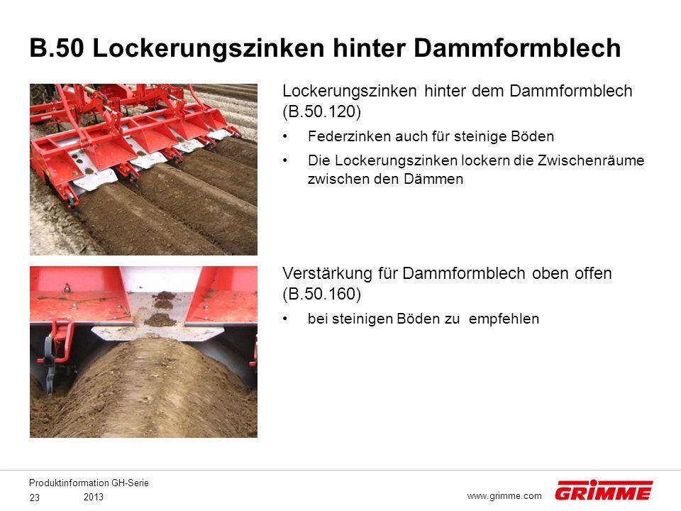 B.50 Lockerungszinken hinter Dammformblech