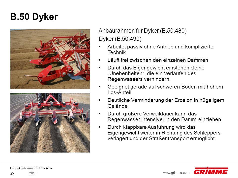 B.50 Dyker Anbaurahmen für Dyker (B.50.480) Dyker (B.50.490)