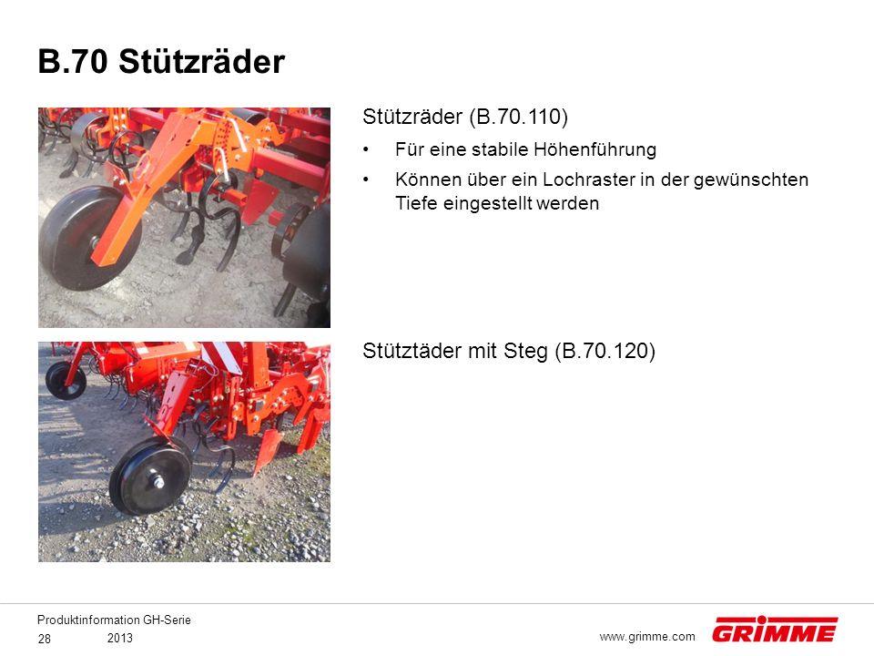 B.70 Stützräder Stützräder (B.70.110) Stütztäder mit Steg (B.70.120)