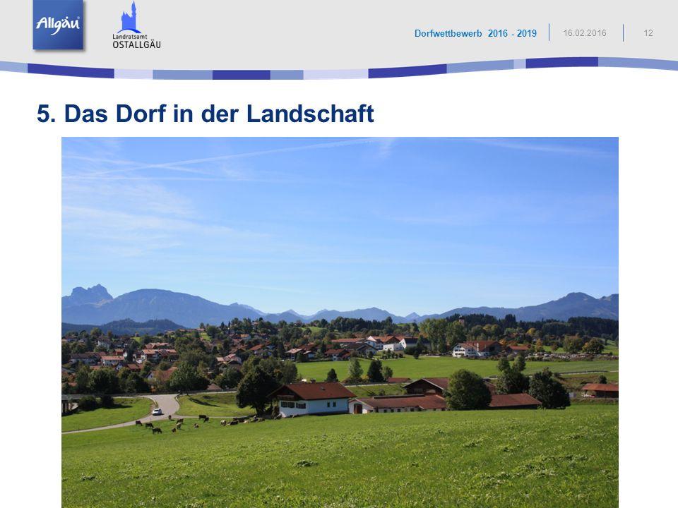 5. Das Dorf in der Landschaft
