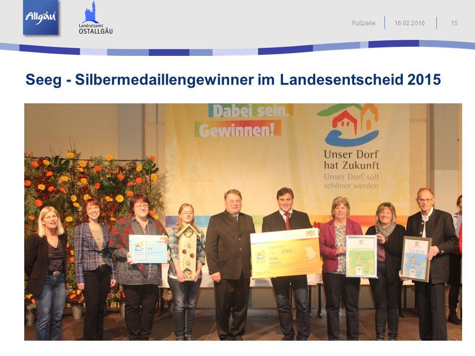 Seeg - Silbermedaillengewinner im Landesentscheid 2015
