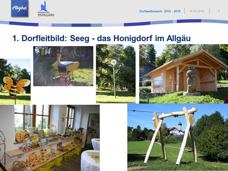 1. Dorfleitbild: Seeg - das Honigdorf im Allgäu