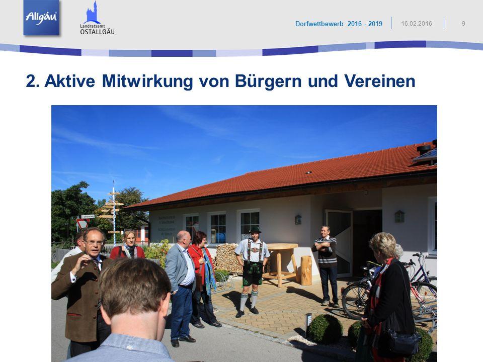 2. Aktive Mitwirkung von Bürgern und Vereinen