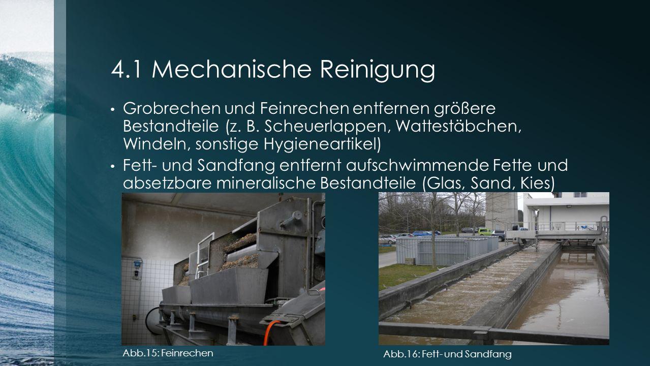 4.1 Mechanische Reinigung