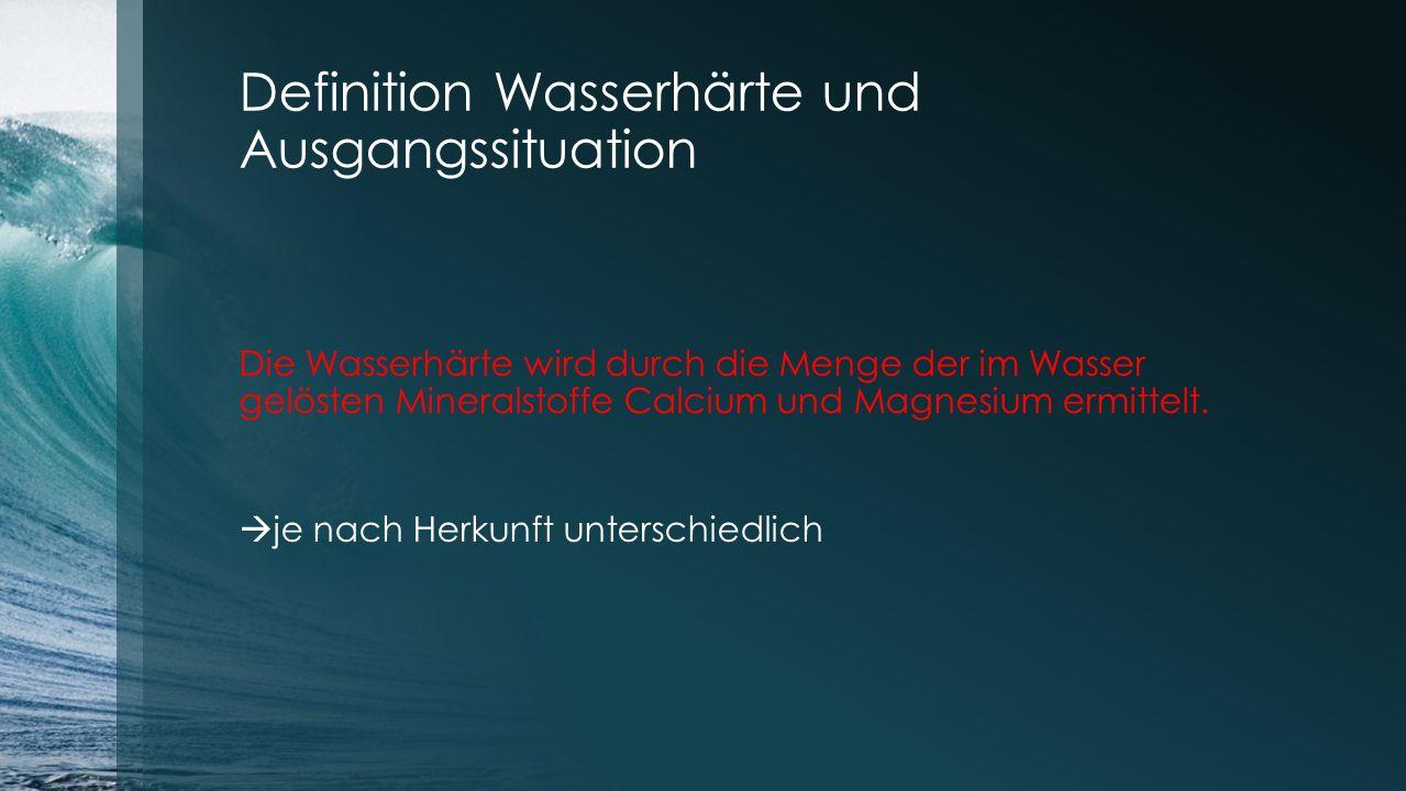 Definition Wasserhärte und Ausgangssituation