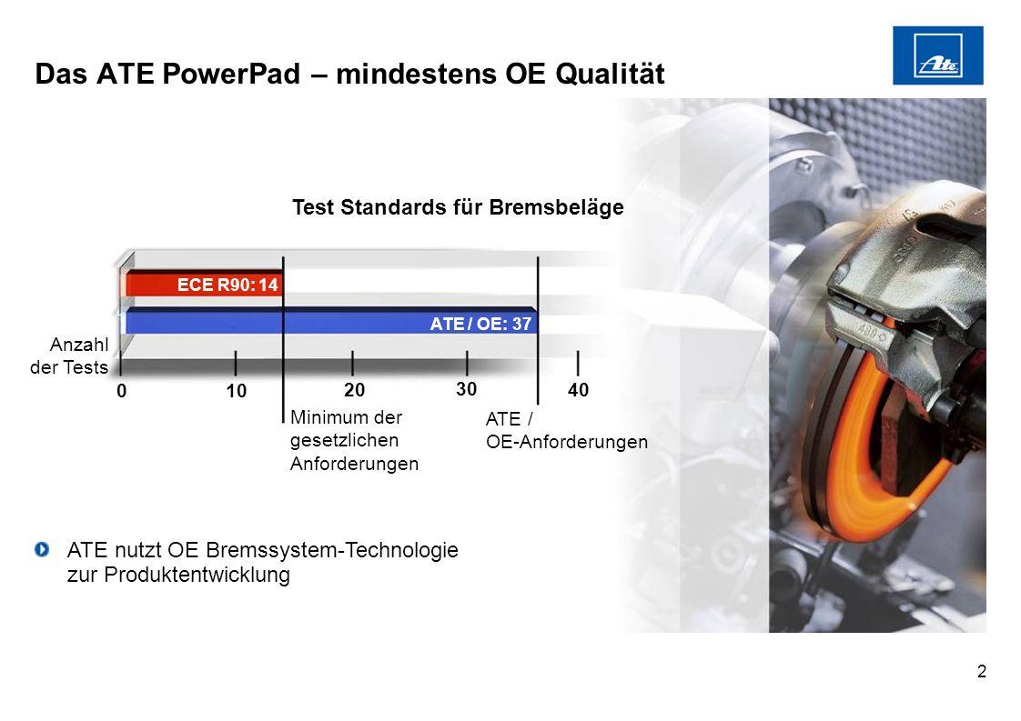 Das ATE PowerPad – mindestens OE Qualität