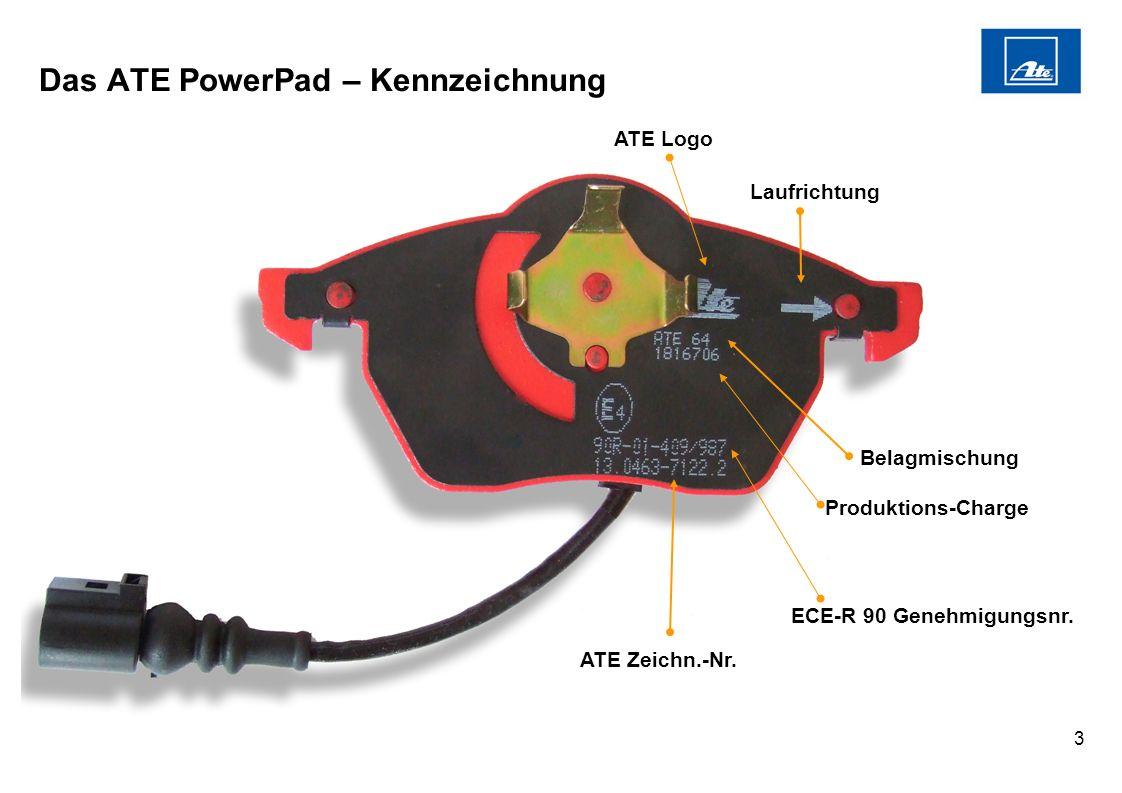 Das ATE PowerPad – Kennzeichnung