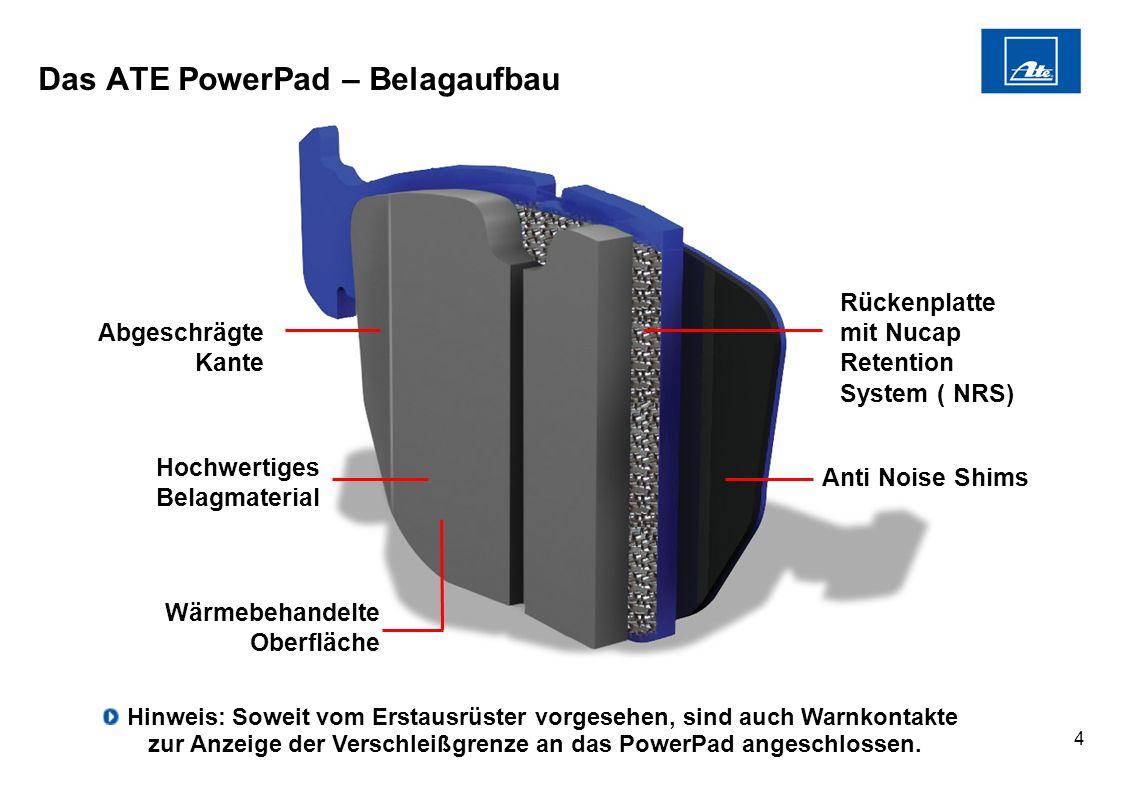 Das ATE PowerPad – Belagaufbau