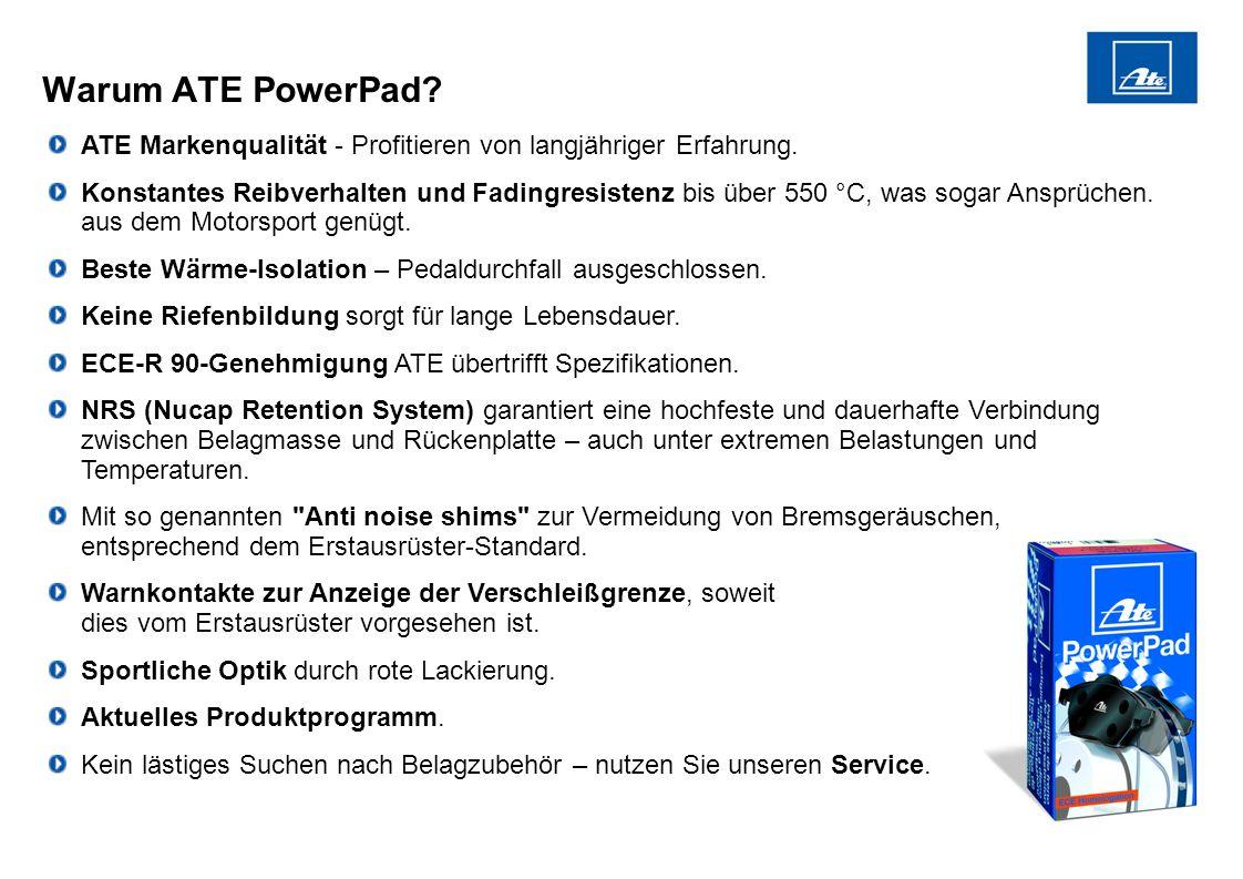 Warum ATE PowerPad ATE Markenqualität - Profitieren von langjähriger Erfahrung.