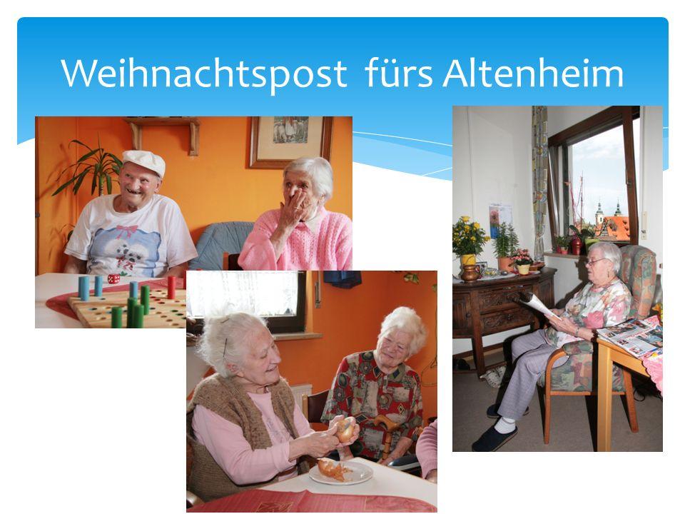 Weihnachtspost fürs Altenheim
