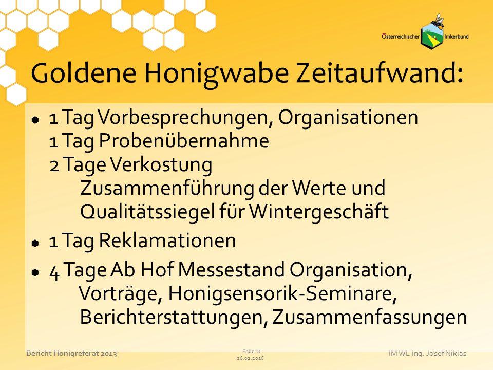 Goldene Honigwabe Zeitaufwand: