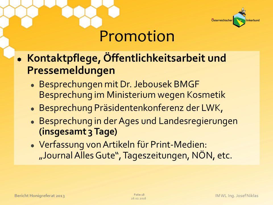 Promotion Kontaktpflege, Öffentlichkeitsarbeit und Pressemeldungen