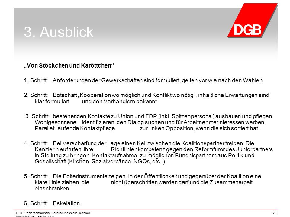 """3. Ausblick """"Von Stöckchen und Karöttchen"""