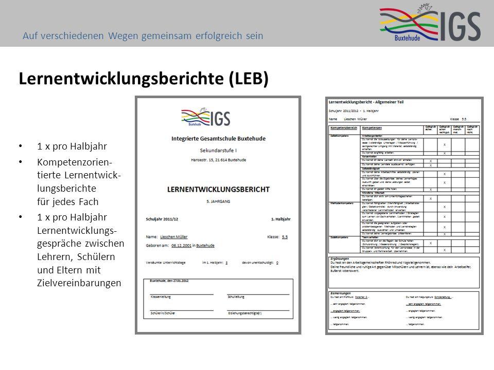 Lernentwicklungsberichte (LEB)