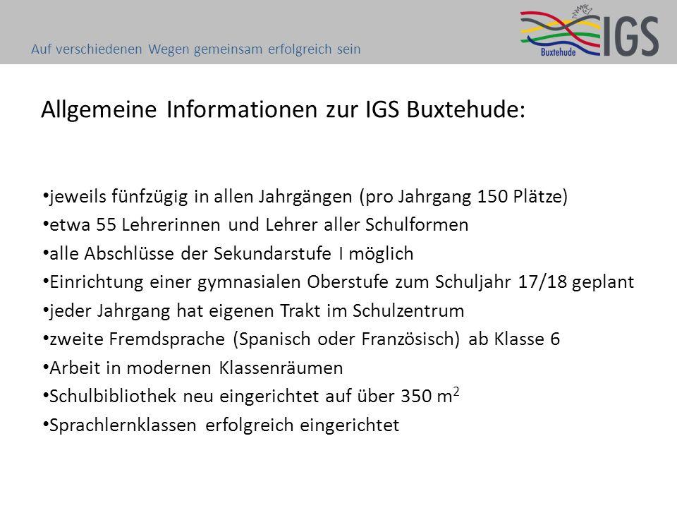 Allgemeine Informationen zur IGS Buxtehude: