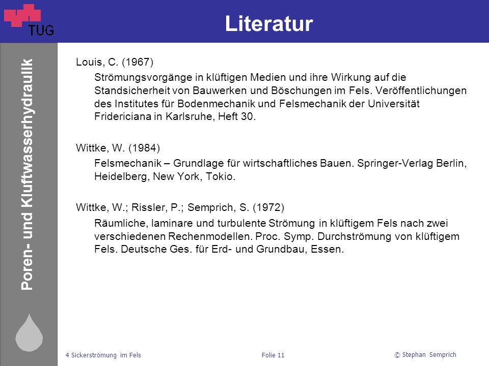 Literatur Louis, C. (1967)