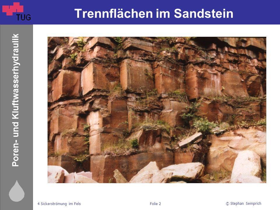 Trennflächen im Sandstein