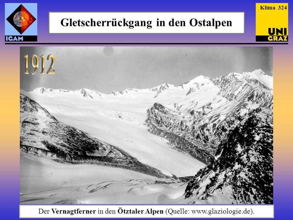 Gletscherrückgang in den Ostalpen