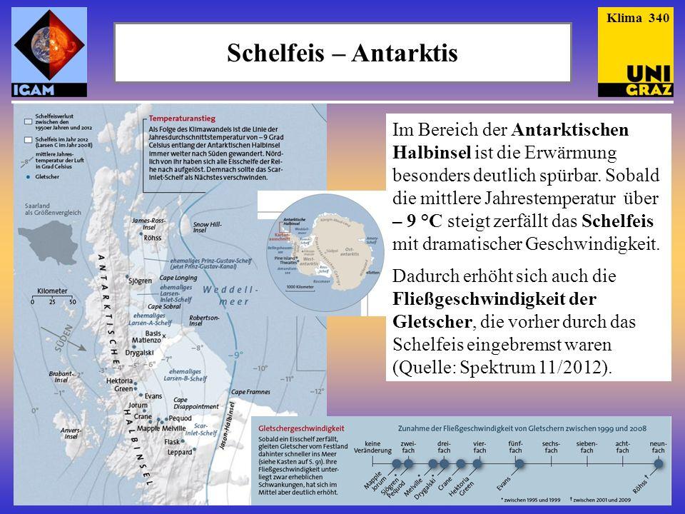 Klima 340 Schelfeis – Antarktis.