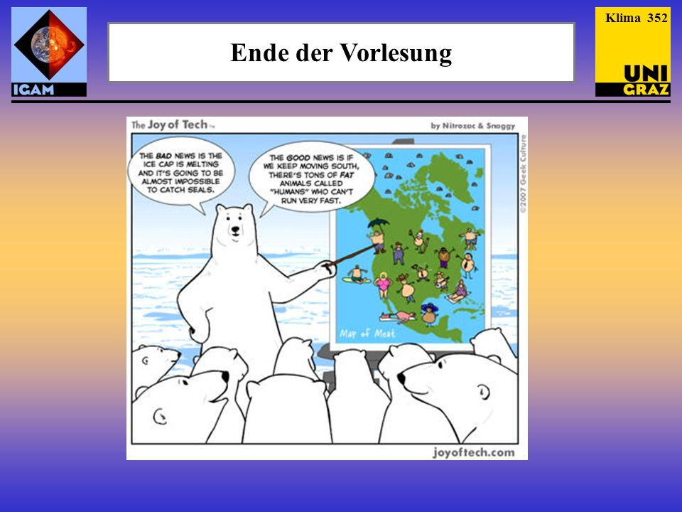 Klima 352 Ende der Vorlesung