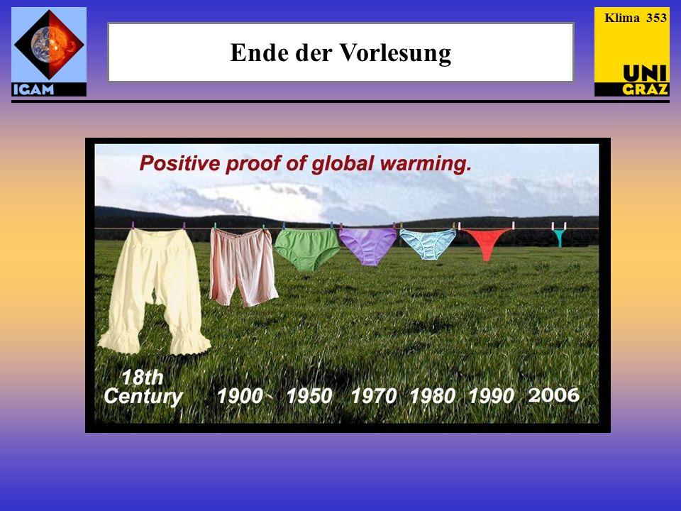 Klima 353 Ende der Vorlesung