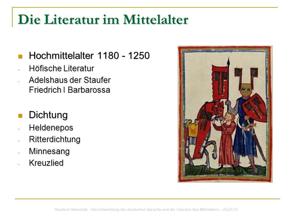 Die Literatur im Mittelalter