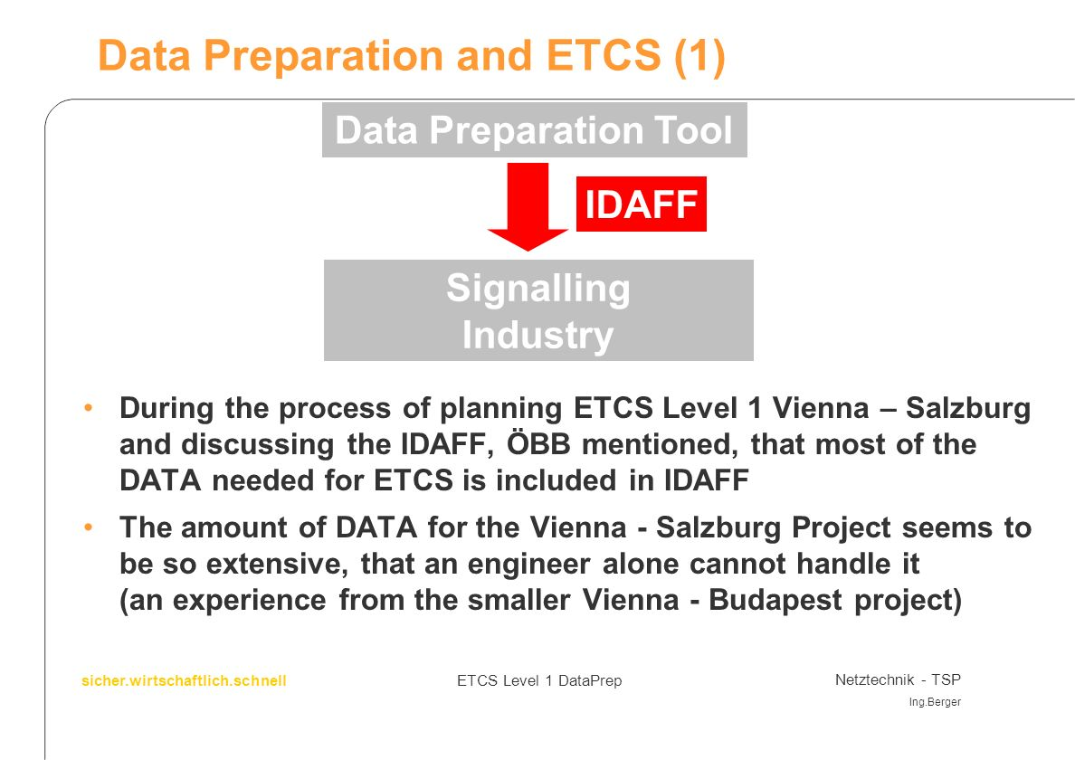 Data Preparation and ETCS (1)
