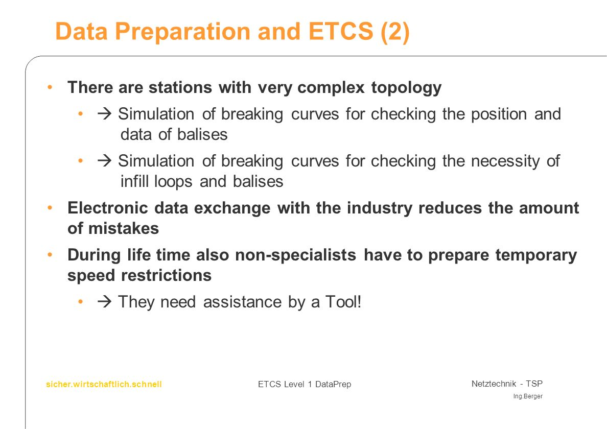 Data Preparation and ETCS (2)