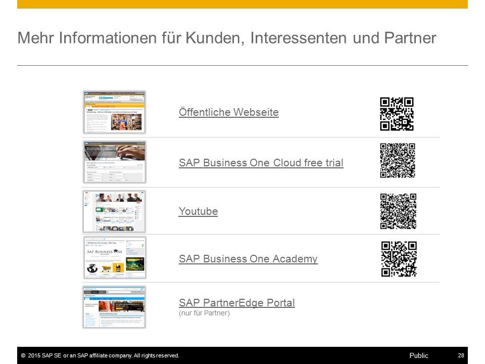 Mehr Informationen für Kunden, Interessenten und Partner