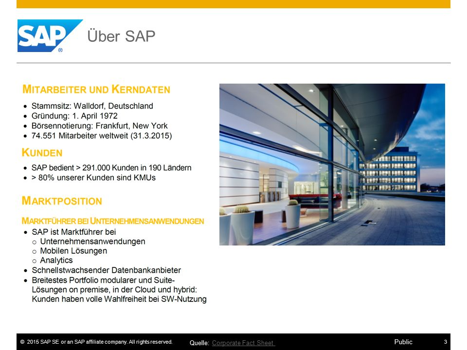 Über SAP Quelle: Corporate Fact Sheet