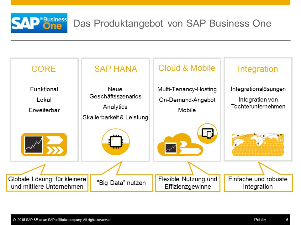 Das Produktangebot von SAP Business One