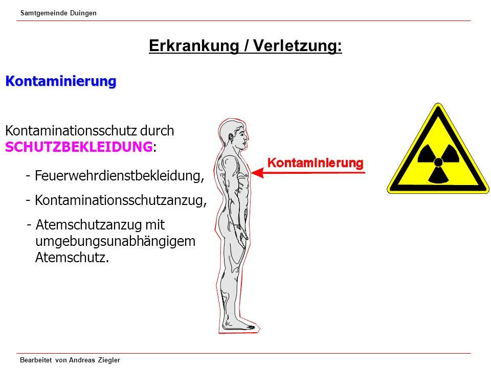 Erkrankung / Verletzung: