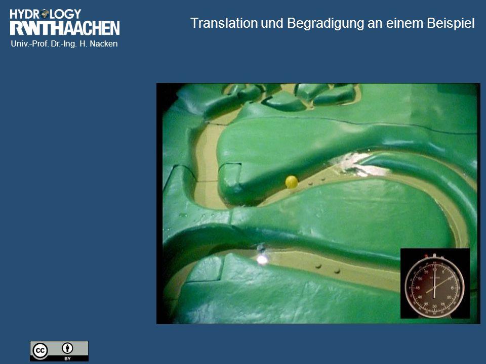 Translation und Begradigung an einem Beispiel