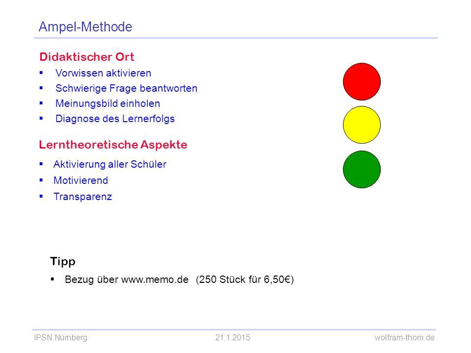 Ampel-Methode Didaktischer Ort Lerntheoretische Aspekte Tipp