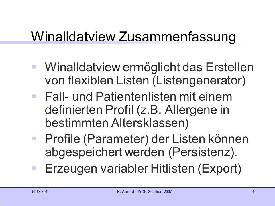 Winalldatview Zusammenfassung