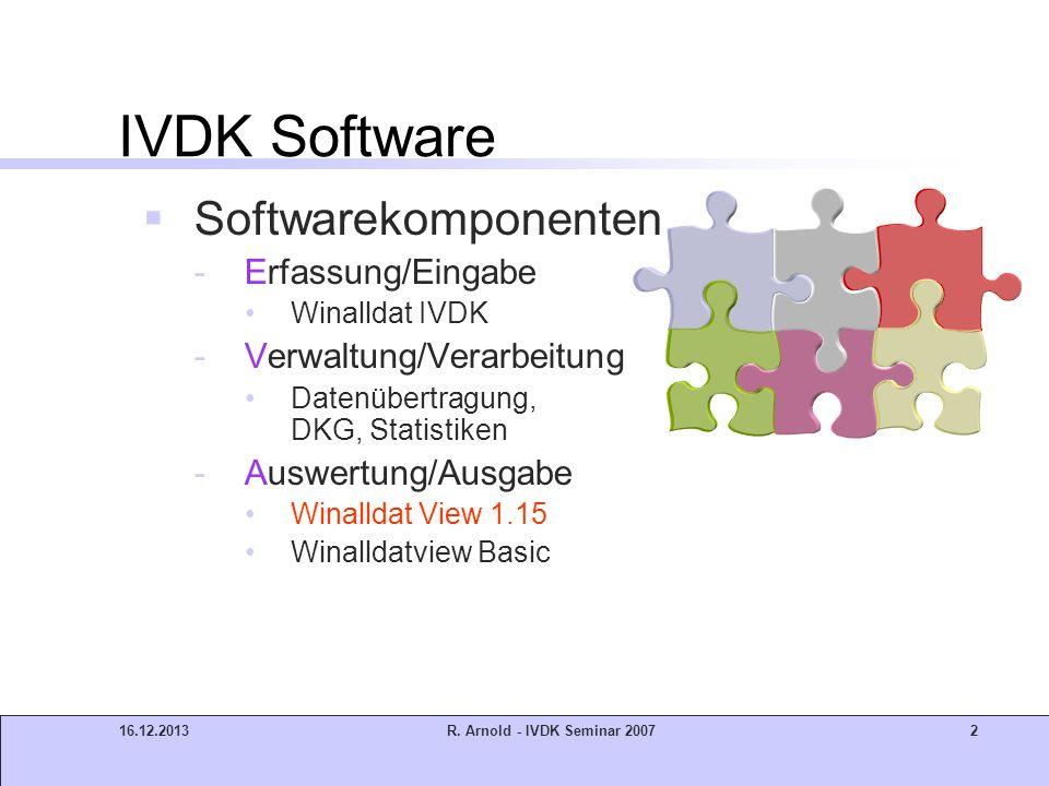 IVDK Software Softwarekomponenten Erfassung/Eingabe