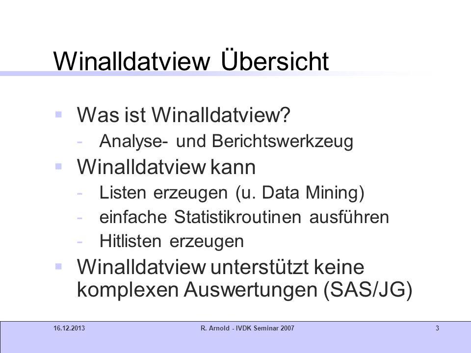 Winalldatview Übersicht