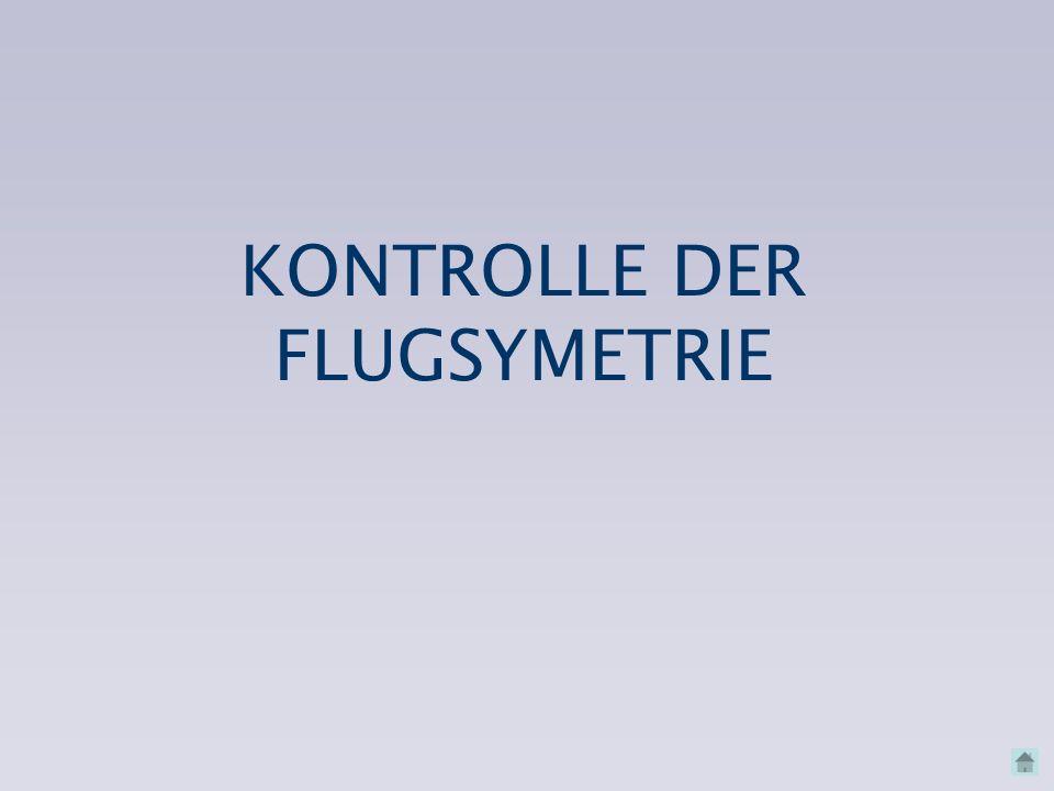 KONTROLLE DER FLUGSYMETRIE