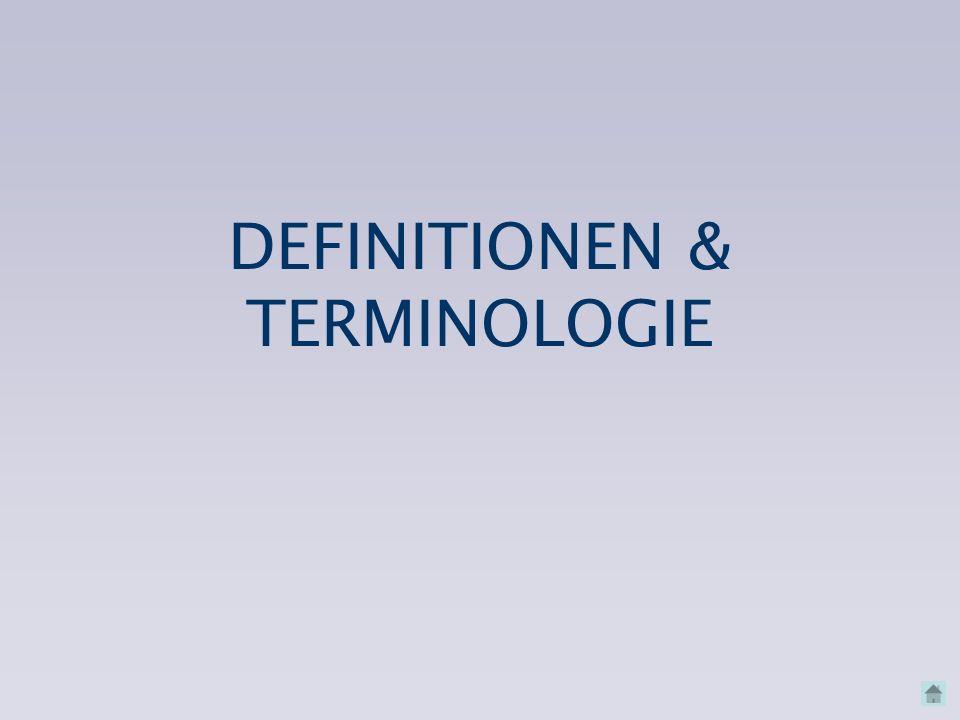 DEFINITIONEN & TERMINOLOGIE
