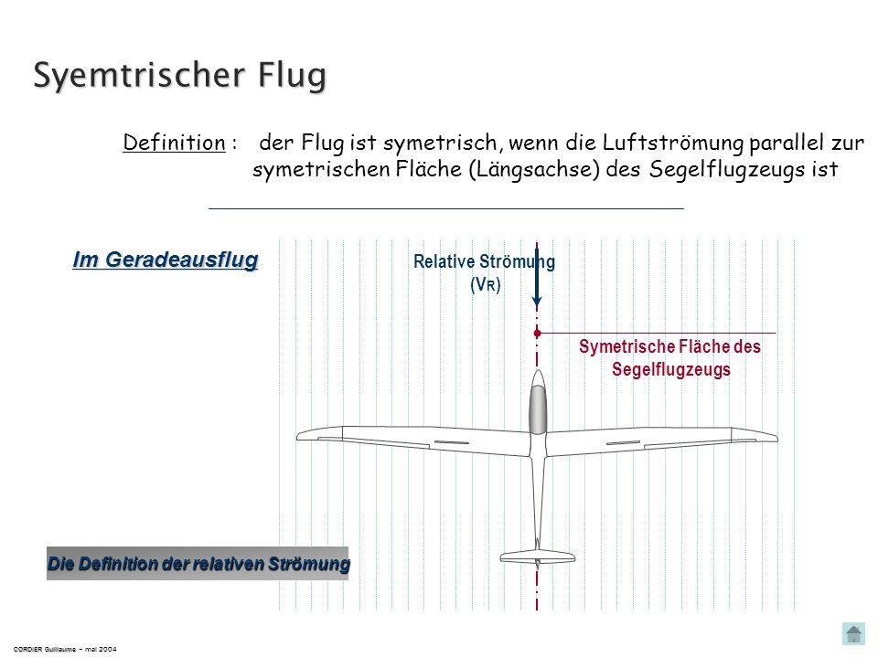 Symetrische Fläche des Die Definition der relativen Strömung