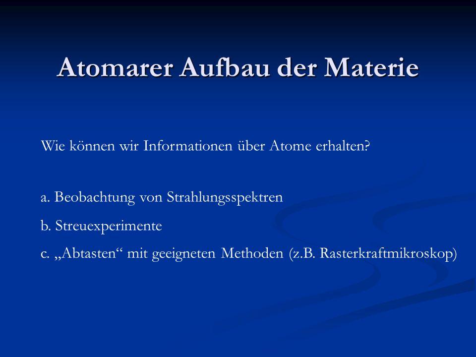 Atomarer Aufbau der Materie