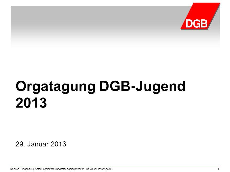 Orgatagung DGB-Jugend 2013