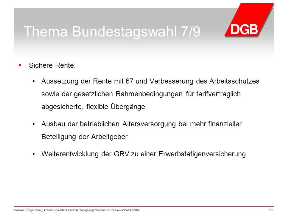 Thema Bundestagswahl 7/9