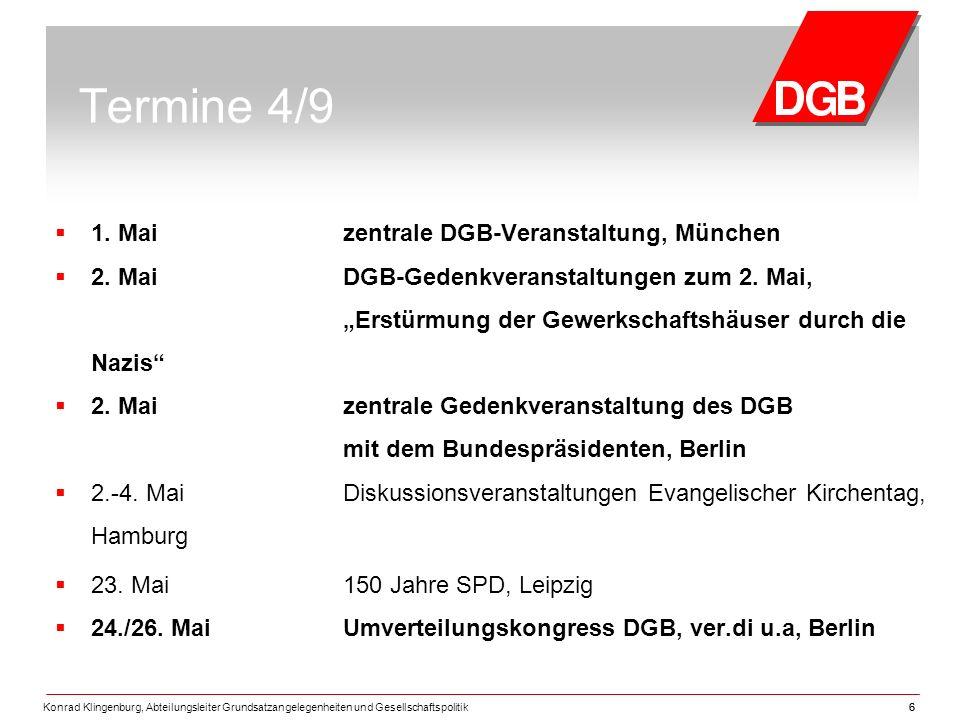 Termine 4/9 1. Mai zentrale DGB-Veranstaltung, München