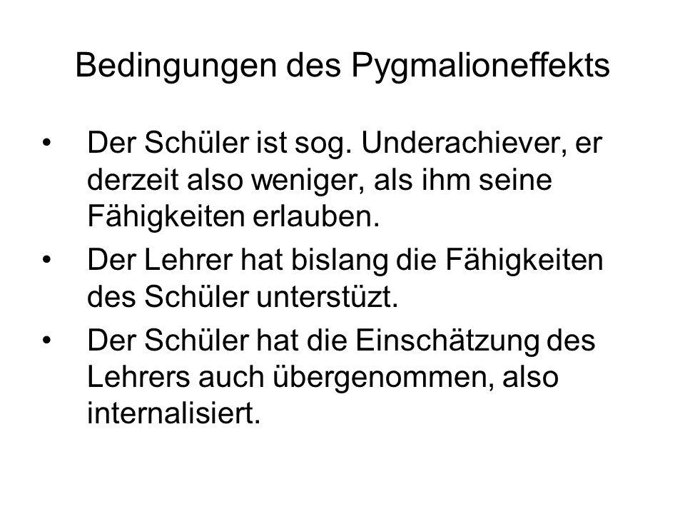Bedingungen des Pygmalioneffekts