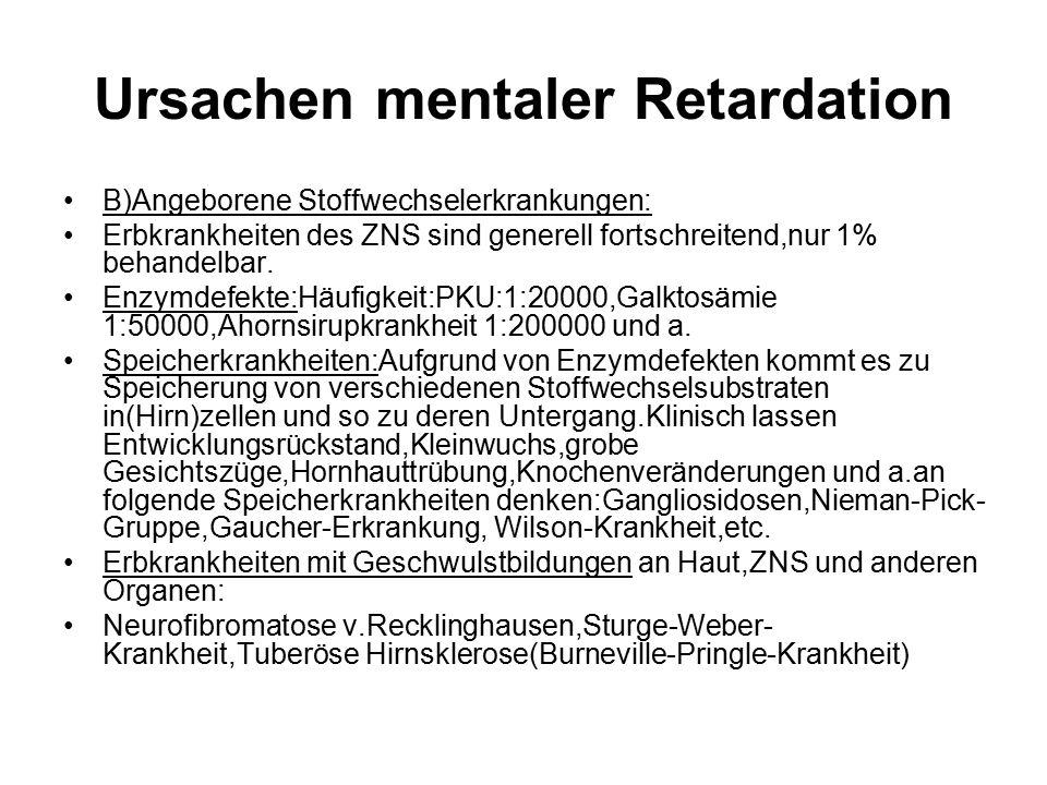 Ursachen mentaler Retardation
