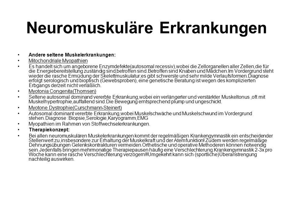 Neuromuskuläre Erkrankungen